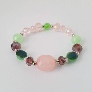 May Vora Jewelry Pink & Green Bracelet